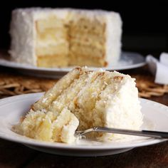 Packed with coconut and pineapple, this Pina Colada Cake is a easy way to take an island trip!
