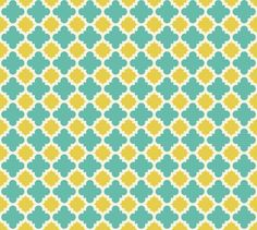 burst lemon and teal fabric by mytinystar on Spoonflower - custom fabric