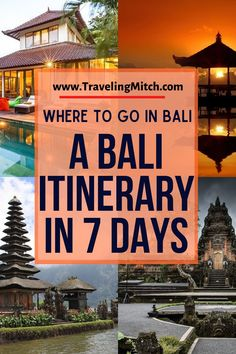 If you're planning a trip to Bali, it can be overwhelming to pinpoint exactly where you should spend time and for how long. In this post, I've outlined the main essentials you'll need to plan your 7 days in Bali, including ideas for the best month to visit Bali, whether or not Bali is expensive and how to tackle it, along with some ideas about where to visit in Bali. #bali #balitravel #traveltip Budget Travel, Travel Ideas, Travel Inspiration, Travel Tips, Travel Destinations, Bali Travel, Work Travel, Frugal Tips, Discount Travel