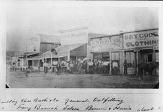 Dodge City in the 1800s   view of the Dodge City, Kansas, business district in 1875 - Page