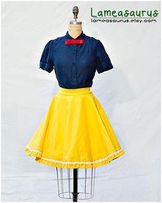 Snow White Princess Retro Style Skirt by Lameasaurus on Etsy, $50.00