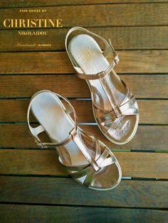 In gold sandals dawn like a thief fell upon me. ~#Sappho( trans. by Willis Barnstone) #pink #gold #T_strap #Sandal #lifeisbetterinsandals #summer2017 #summeringreece  #bespoke #handmade #leather #greek sandal #fineshoesbychristinenikolaidou #greekdesigners #shoestagtamm #instashoes #shoetrends #shoelover