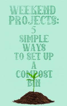 Related:10 Compost Bins for Backyard Gardeners You, too, can make your own compost.  If you'd rather not spend money on a premade product—or if you're looking for a good reason to get outdoors this spring and summer—you can complete a DIY compost bin in a matter of hours, using only a few materials that are easy to find.  1. Work With Wire Photo: motherearthnews.com Built of recycled deck boards and simple chicken wire, this DIY compost bin features three compartments to accommodate compost...