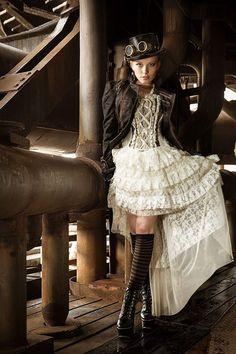 Steampunk Ivory Lace