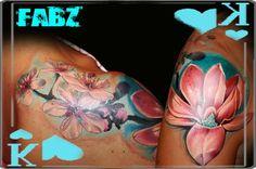 Photo of Fabz LAB Tattooligan DownunderInkjecta Pneumatix Birthday Tattoo, Foot Prints, Baby Footprints, Baby Feet, Flower Tattoos, Tatting, Lab, Tattoo Ideas, Feather