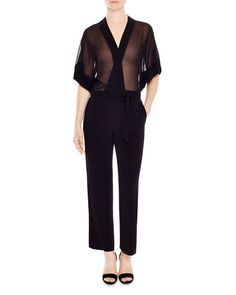 119cdbbdb779 Sandro Kimonoia Semi Sheer Jumpsuit Jumpsuits For Sale