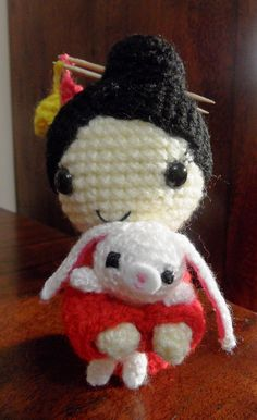 """Chinese New Year Doll""    tutorial here http://allaboutami.tumblr.com/post/3071777557/chinesenewyeardoll"