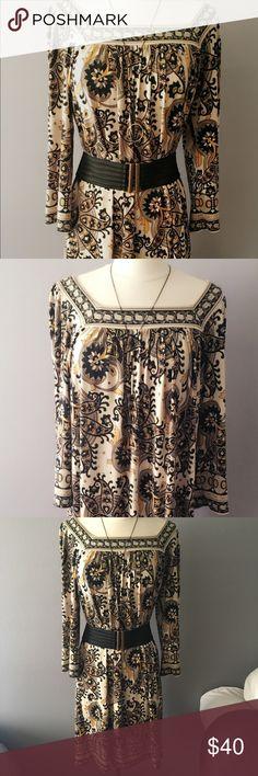 Vintage Michael Kors paisley dress M Vintage Michael Kors Paisley Dress Size Medium perfect with or without a belt depending on your style Michael Kors Dresses Long Sleeve
