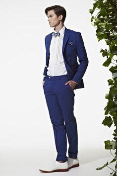 Prussian Blue Suit. Ovadia and Sons for J Press