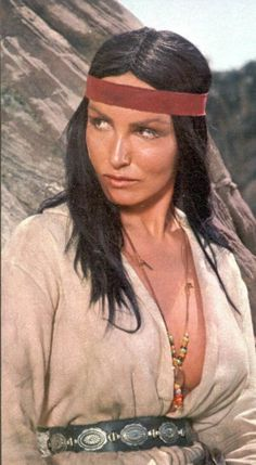 Julie Newmar....Tough actress as an Apache Indian in films (Before role as the CatWoman vs. Batman on TV).