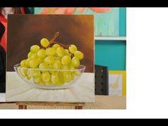 Como pintar al Oleo - Cuadro de  Uvas