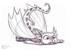 Draconis felis by ericscalessketchbook.blogspot.com #catdrawing