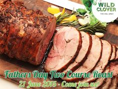FATHERS DAY TWO COURSE ROAST - Carved leg of lamb & beef roast served with baby roasted potatoes, rice, gravy and two seasonal vegetables accompanied by homemade Malva pudding & custard. Receive a complementary glass of Meander red wine with each Father's Day Roast. Join us for a time well spent. BOOKINGS ARE ESSENTIAL - Please phone: +27 (0)21 865 2248