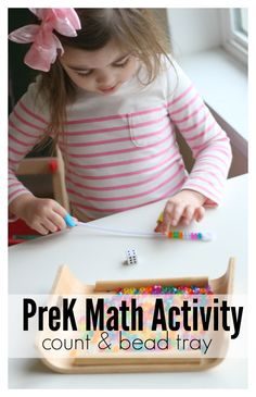 This pre-k math activity uses things you probably already have in your classroom, and kids love building fine motor, counting, and subitizing skills.