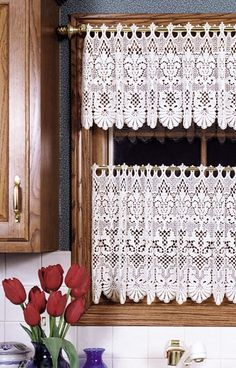 Rembrandt Ring Lace Curtains, French Macrame Lace