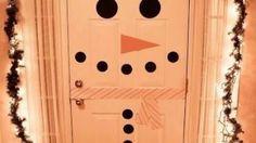 decoraçao portas natal boneco de neve