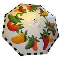 Check out http://paintmisbehavin7.com!  The Original Hand Painted Garden Umbrella