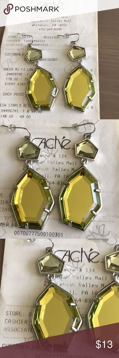 CACHE Chartreuse Earrings Cache Blue & Yellow Earrings. Buy with matching bracelet in my closet and save! Cache Jewelry Earrings