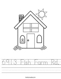 home address worksheet - Twisty Noodle