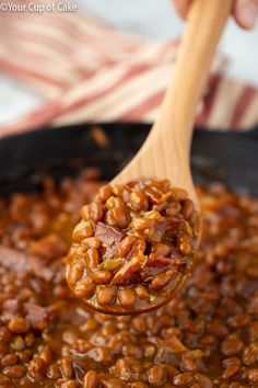Make canned baked beans even better! This recipe for Easy Ultimate Baked Beans will be your new favorite side dish this summer and all year long! Canned Baked Beans, Baked Beans Crock Pot, Best Baked Beans, Baked Beans With Bacon, Baked Bean Recipes, Veggie Recipes, Crockpot Recipes, Cooking Recipes, Beans Recipes