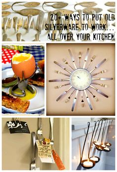 Silverware becomes Silver-Everywhere! Use it to refab every corner of your kitchen. 20+ projects.