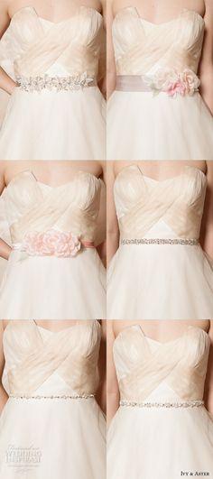 ivy and aster spring 2016 bridal crumb catcher neckline ivory champagne A-line wedding dress with pockets belt styles #weddingdress #weddings
