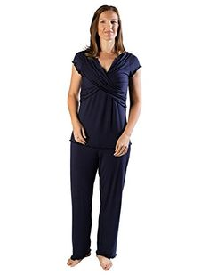 91c677845cc27 From 37.99 Kindred Bravely Davy Ultra Soft Maternity & Nursing Pyjamas  Sleepwear Set (navy Blue