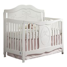 Storkcraft Princess Fixed Side Convertible Crib in White transitional-cribs Transition To Crib, Convertible Crib, Stork, Baby Cribs, Daybed, Toddler Bed, Nursery Ideas, Interior, Kid Furniture