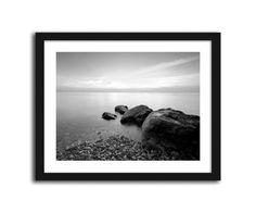 Kamienie na morskiej plaży, obrazki w ramie