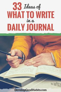 If you have a goal to write in a daily journal, then try using journaling prompts to give your writing focus. It is a concept that has greatly improved my journal.