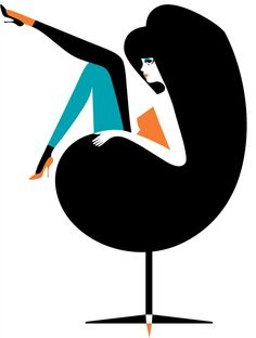Malika Favre illustration #ChairIllustration