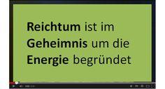 Reichtum ist im Geheimnis um die Energie begründet! Signs, Make Money On Internet, Wealth, Shop Signs, Sign