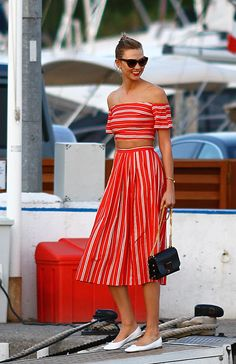 WHO: Karlie Kloss WHAT: Christine Alcalay and Repetto shoes WHERE: On the street, Cannes, France WHEN: May 17, 2016