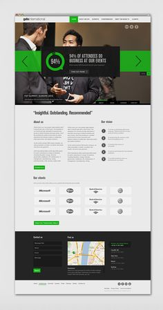 Corporate Website by James West, via Behance
