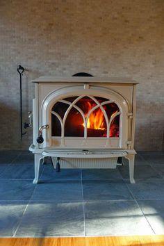 colored wood stove | Nice setup of colors with Jotul wood stove