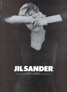 Campaign: Jil Sander Season: Fall 1994 Photographer: Peter Lindbergh Model(s): Linda Evangelista