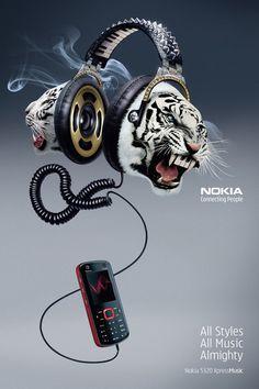 – nokia music almighty headphones tigers