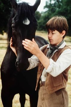 Black Beauty was a rare film where only one horse played the character. His name was Docs Keepin Time and he lived for 26 years! Black Beauty 1994, Black Beauty Movie, Cute Horses, Pretty Horses, Beautiful Horses, Horse Background, The Horse Whisperer, Horse Movies, American Quarter Horse
