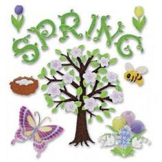 Cozy's Scrapbooking Friday Featured Item Jolee's Boutique scrapbooking sticker Spring item SPJB483.  $1.25