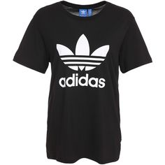 Adidas Originals Bf Trefoil Tee ($38) ❤ liked on Polyvore featuring tops, t-shirts, patterned tops, adidas originals tee, tall tops, print t shirts and trefoil tee