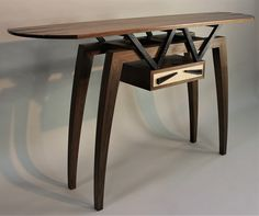 Latest Flight Hall Table made from Walnut, Wenge and Ripple Sycamore Hall Tables, Furniture, Home Decor, Decoration Home, Hallway Tables, Room Decor, Home Furnishings, Home Interior Design, Home Decoration