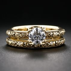 .61 Carat Diamond Estate Wedding Set by Van Craeynest - 10-1-5717 - Lang Antiques