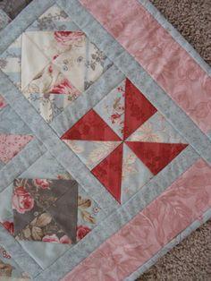 Custom Quilts- love this pinwheel block