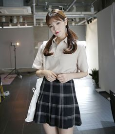 Dress Up Confidence! Global Young Girls Trendy Style Maker 66girls.us Pleated Check Print Skort (DHDK) #66girls #kstyle #kfashion #koreanfashion #girlsfashion #teenagegirls #fashionablegirls #dailyoutfit #trendylook #globalshopping