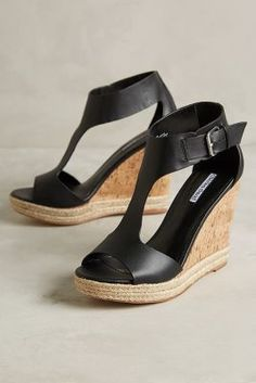 Charles David Olivia Wedges Black
