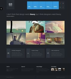 BIR - Responsive Creative #WordPress Theme http://themeforest.net/item/bir-responsive-creative-wordpress-theme/4701545?ref=wpaw #wp #web #design