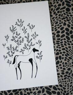 Painted Horse Original Illustration by LilaRubyKingShop on Etsy