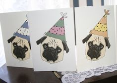 Birthday cards! Who doesn't love a puppy in a birthday hat?