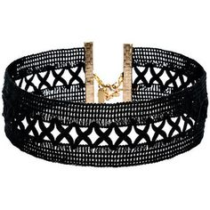 Vanessa Mooney Only Kisses Black Lace Choker Necklace
