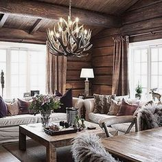 42 Inspiring Home Interior Cabin Style Design Ideas. Some people like to feel like they're getting away from it all and living like a. Modern Cabin Interior, Cabin Interior Design, Chalet Interior, Rustic Home Interiors, House Design, Modern Cabin Decor, Interior Ideas, Cabin Style Homes, Log Cabin Homes